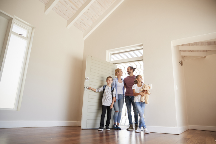 Potential buyers looking at a new home.